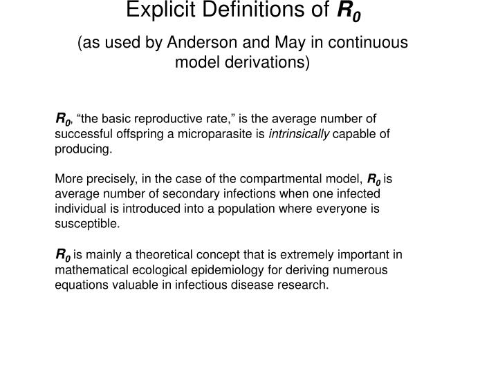 Explicit Definitions of