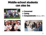 middle school students can also be