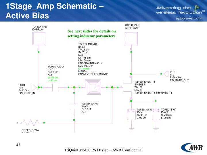 1Stage_Amp Schematic – Active Bias