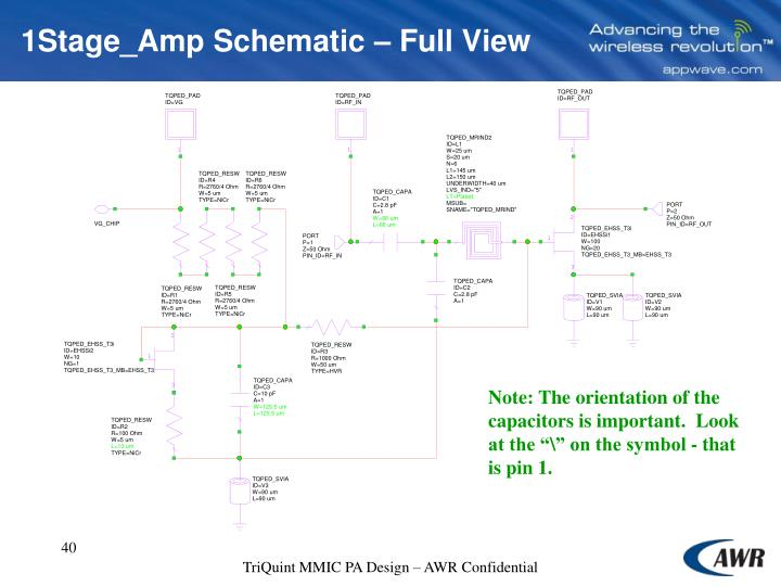 1Stage_Amp Schematic – Full View
