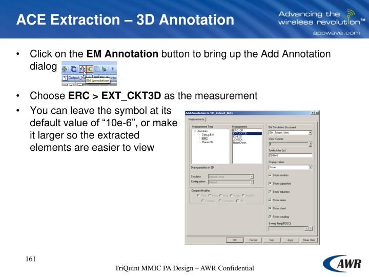 ACE Extraction – 3D Annotation