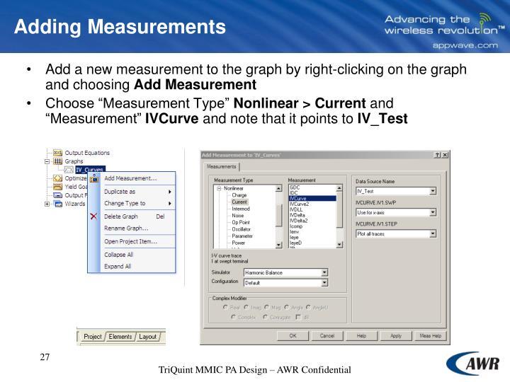 Adding Measurements