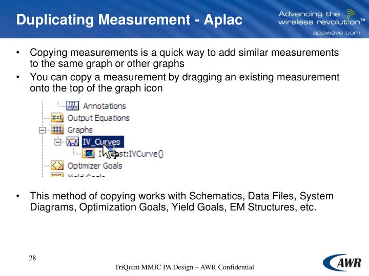 Duplicating Measurement - Aplac