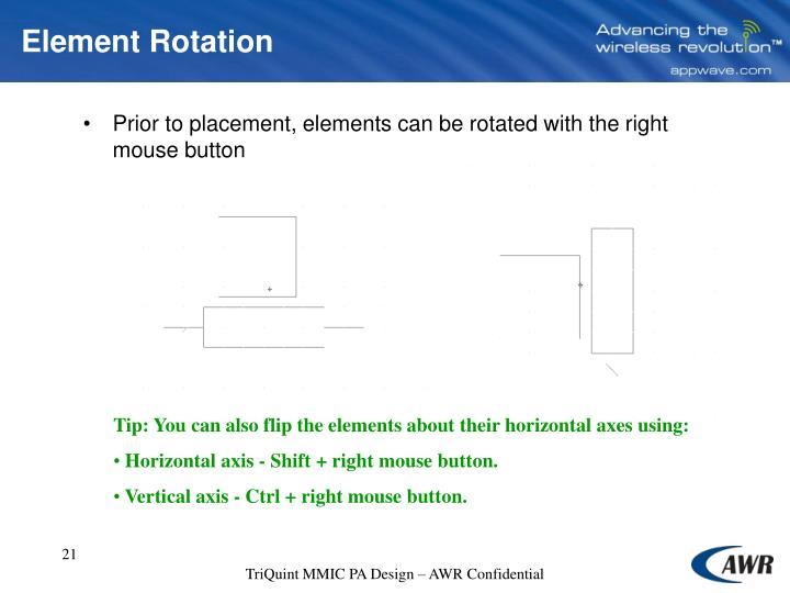 Element Rotation