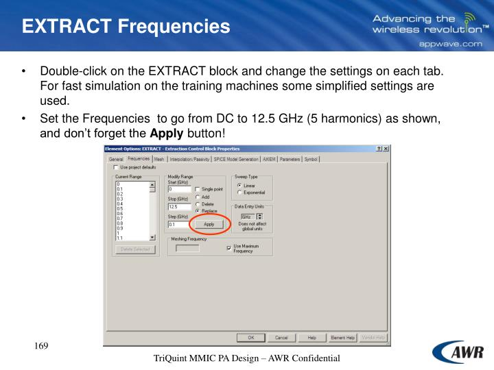EXTRACT Frequencies
