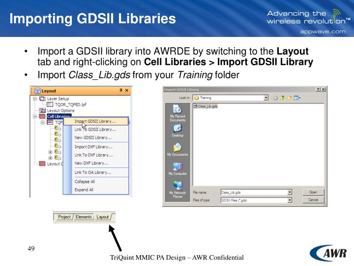 Importing GDSII Libraries