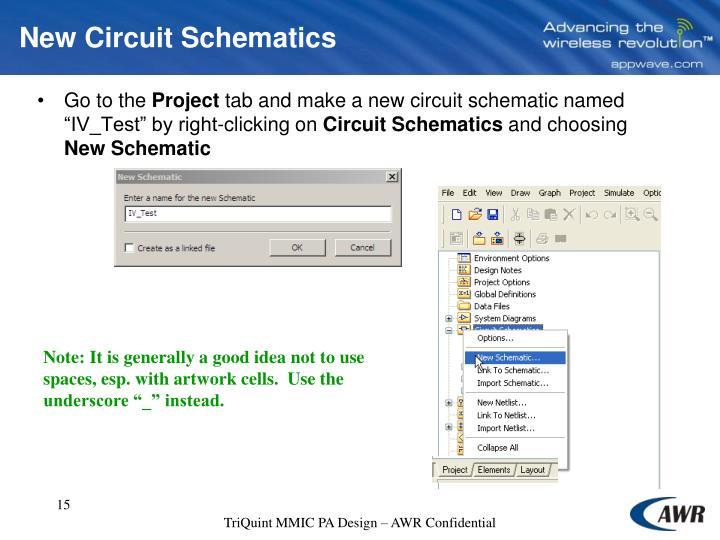 New Circuit Schematics