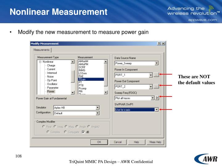 Nonlinear Measurement