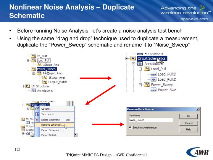Nonlinear Noise Analysis – Duplicate Schematic