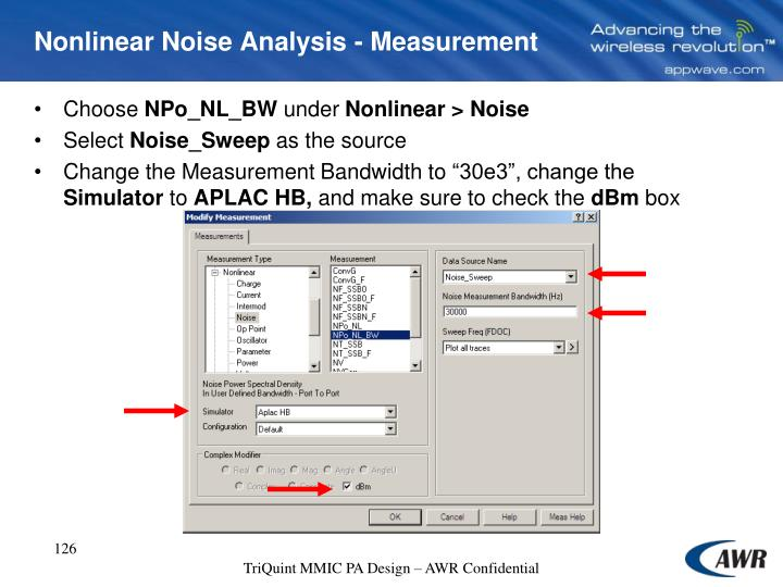 Nonlinear Noise Analysis - Measurement