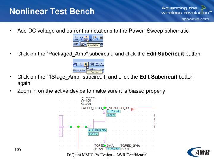 Nonlinear Test Bench