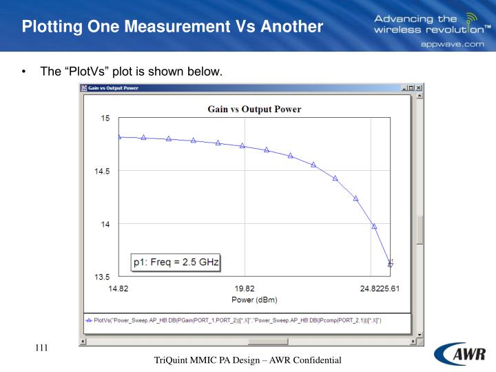 Plotting One Measurement Vs Another