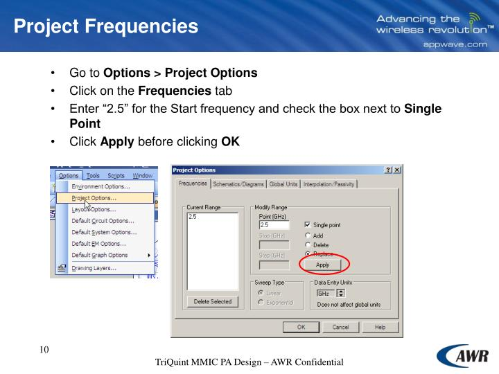 Project Frequencies