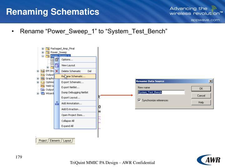 Renaming Schematics