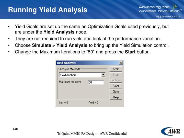 Running Yield Analysis