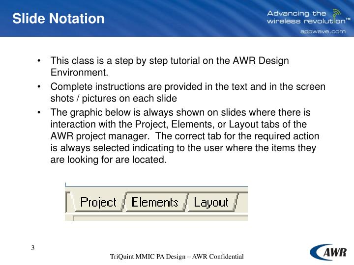 Slide notation