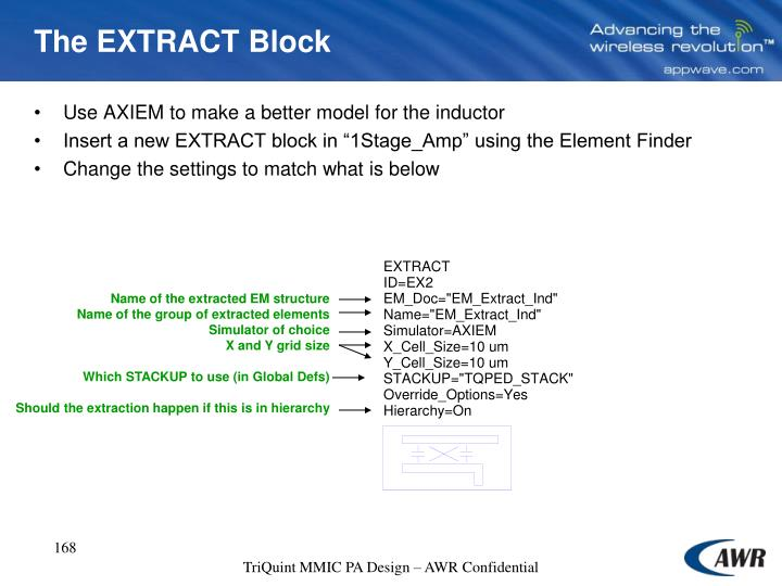 The EXTRACT Block