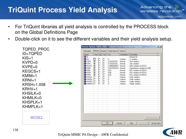 TriQuint Process Yield Analysis