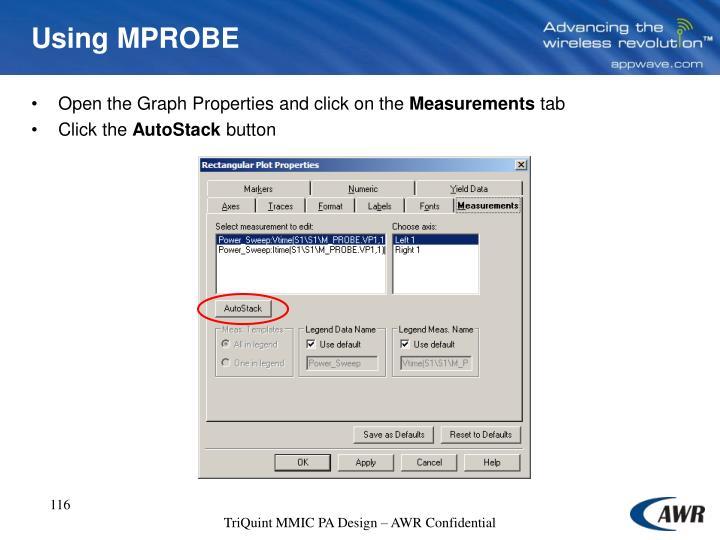 Using MPROBE