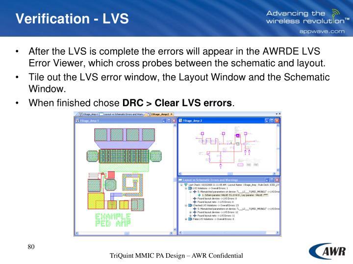 Verification - LVS