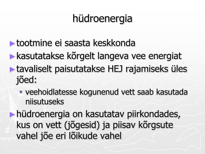 hüdroenergia