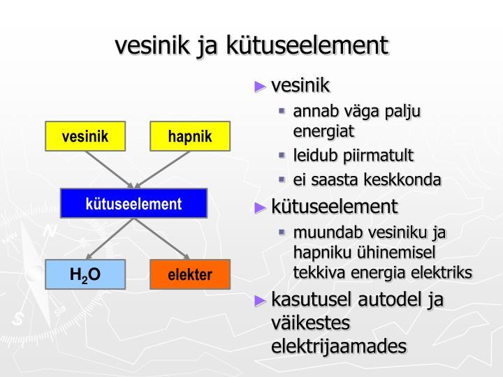 vesinik ja kütuseelement