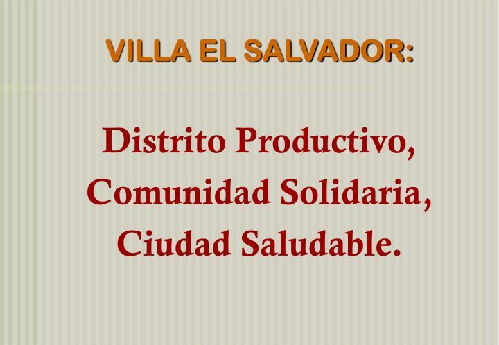 VILLA EL SALVADOR: