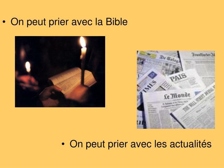 On peut prier avec la Bible