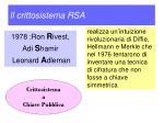 il crittosistema rsa1