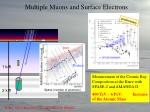 multiple muons and surface electrons