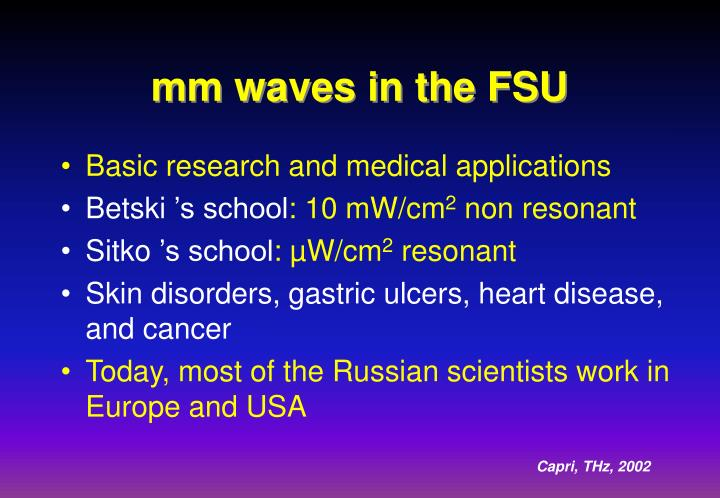 mm waves in the FSU
