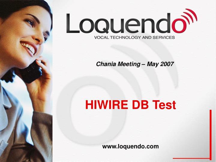 Chania meeting may 20071