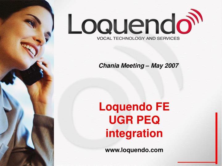 Chania Meeting – May 2007