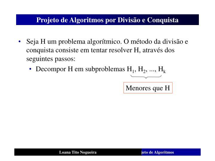 Projeto de algoritmos por divis o e conquista1