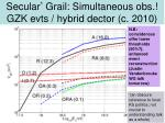 secular grail simultaneous obs gzk evts hybrid dector c 2010