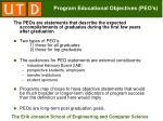 program educational objectives peo s