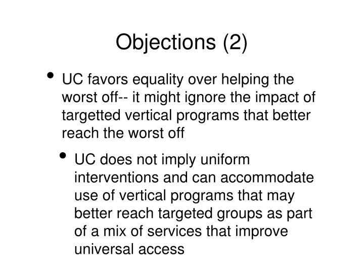 Objections (2)