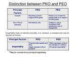 distinction between pko and peo1