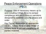 peace enforcement operations peo