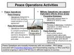 peace operations activities