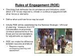 rules of engagement roe