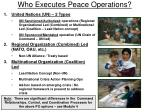 who executes peace operations