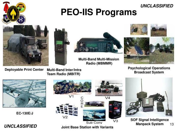 PEO-IIS Programs