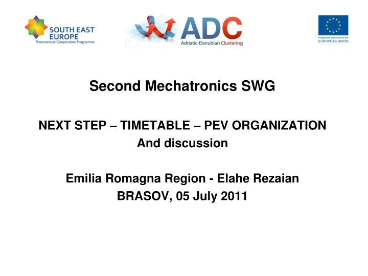 Second Mechatronics SWG