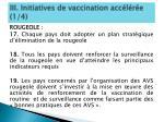 iii initiatives de vaccination acc l r e 1 4