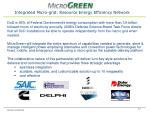 integrated micro grid resource energy efficiency network