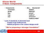 silicon world 5 basic components