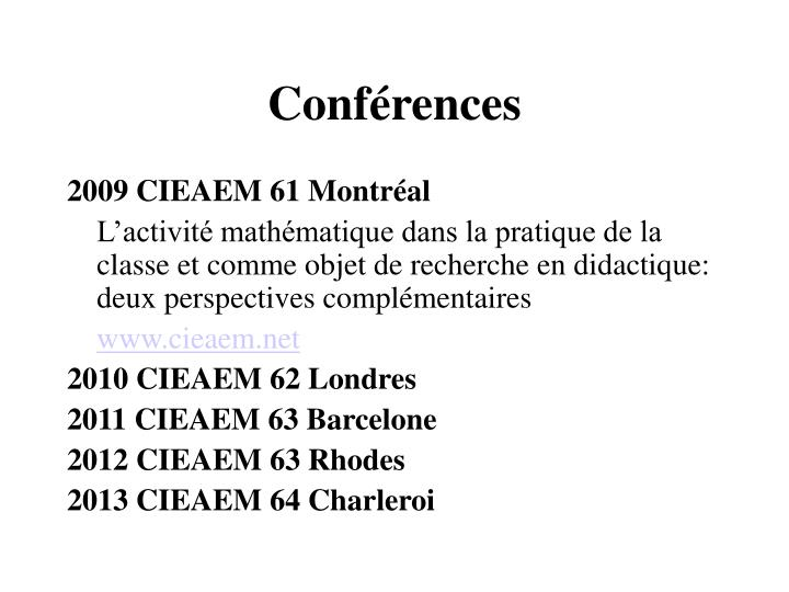 Conf rences