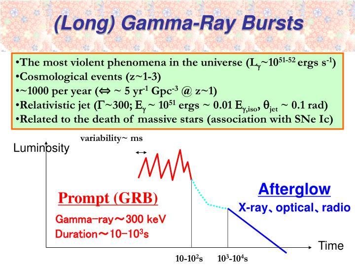 (Long) Gamma-Ray Bursts