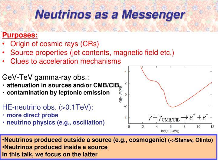 Neutrinos as a messenger